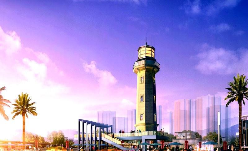 滨江海岸灯塔 效果图
