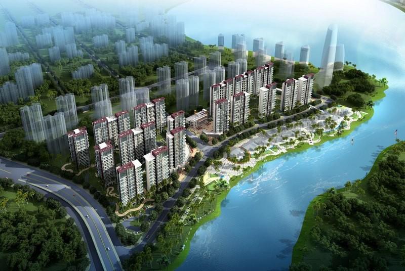 广物滨江海岸鸟瞰图