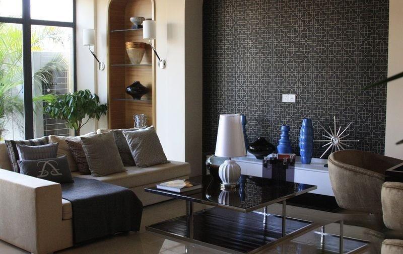 鸿洲江山T2精装样板间客厅