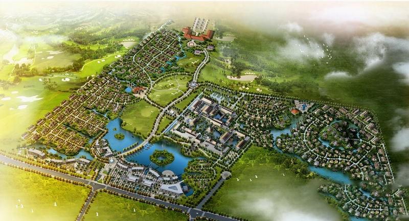鸿洲江山1365亩鸟瞰图