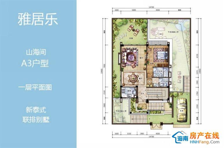 ac户型新泰式联排别墅户型图,二层平面图
