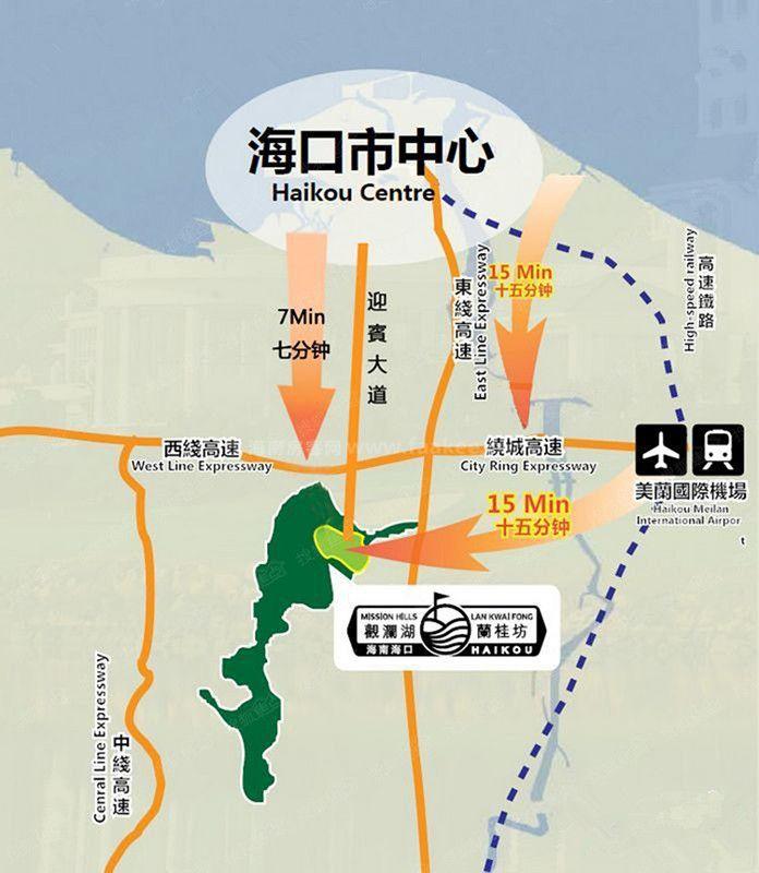 观澜湖·观园交通图