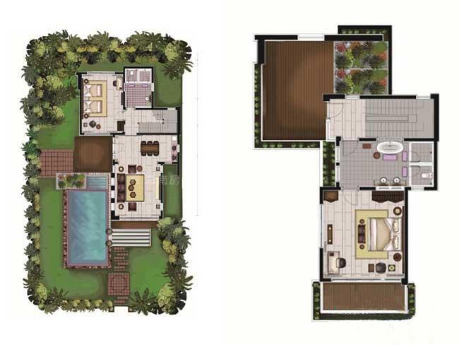华凯南燕湾C别墅户型图2室2厅2卫1厨-152.70㎡