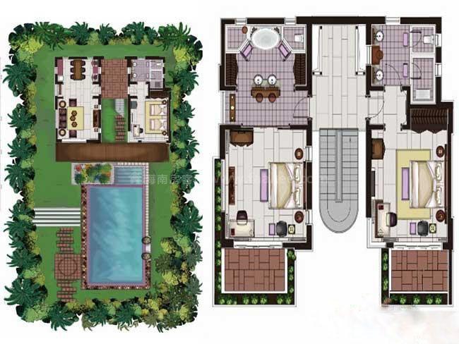 华凯南燕湾G别墅户型图3室2厅3卫1厨-232.70㎡