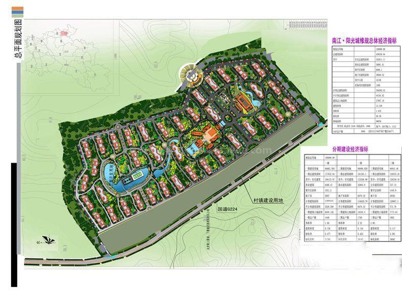 芭提雅火山岩温泉小镇平面规划图