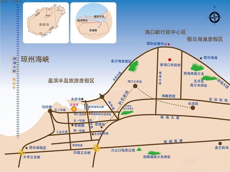 近海湾交通图