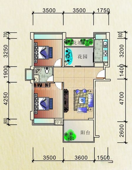 公寓豪华型户型