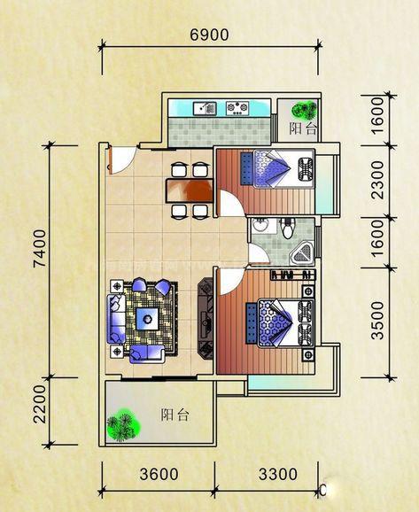 公寓紧凑型户型