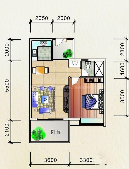 公寓舒适型户型