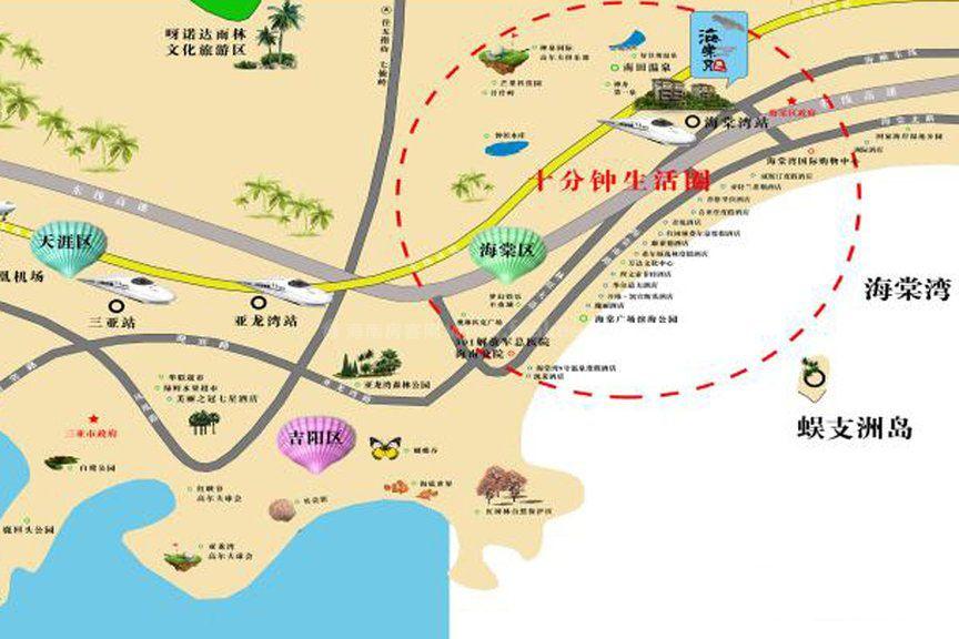 海棠月色交通圖