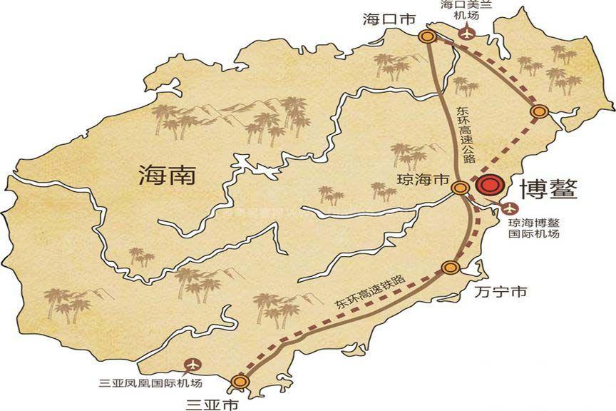 博鳌·美丽熙海岸区位图