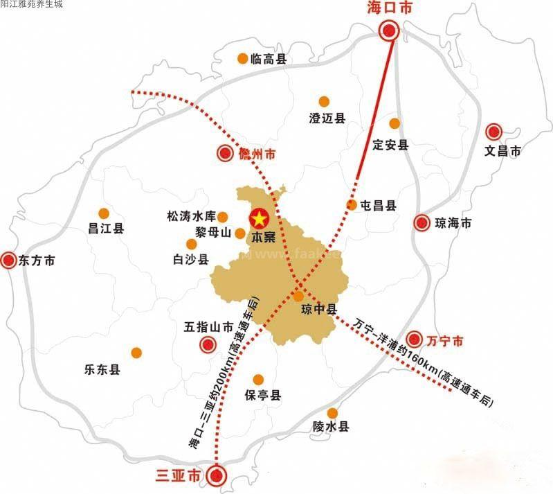 阳江雅苑养生城交通图