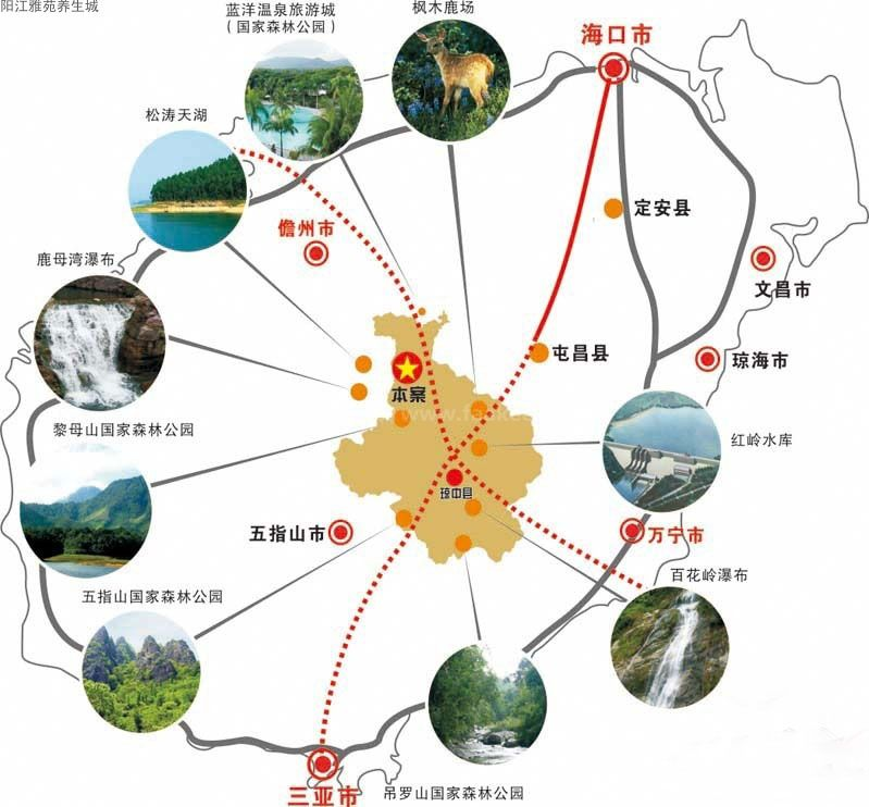 阳江雅苑养生城区位图