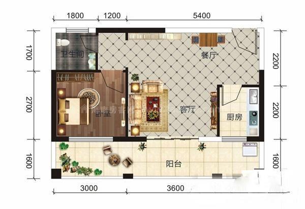 E8户型 1室1厅