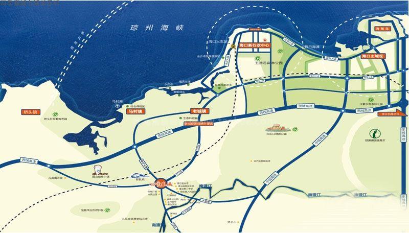 四季春城长乐轩交通图