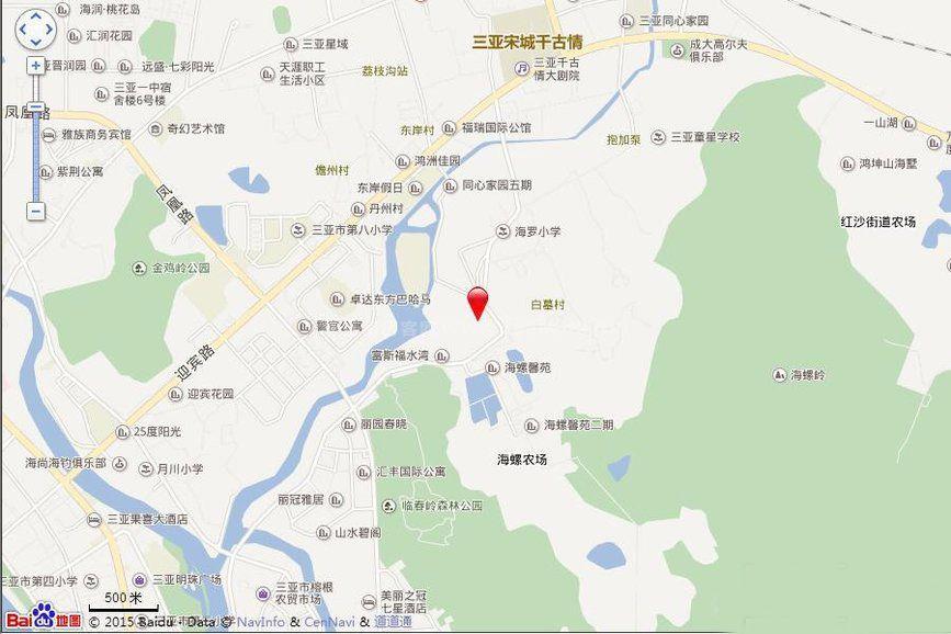 天悦湖畔区位图