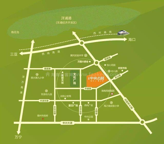 合隆中央公园交通图