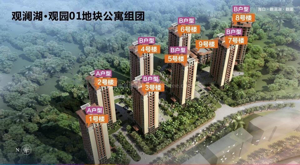 1号地块公寓组团楼栋分布图