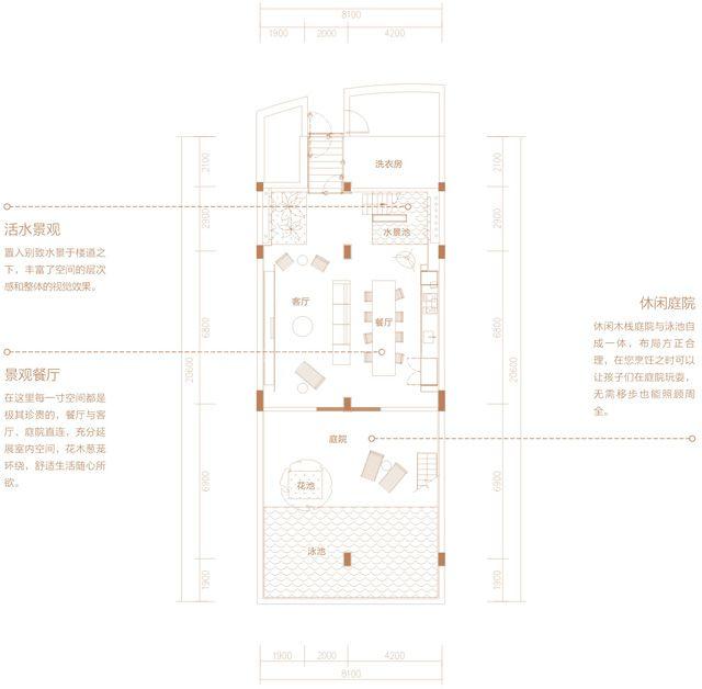 二期别墅 TH02户型 3房2厅3卫 建筑面积约260.68平