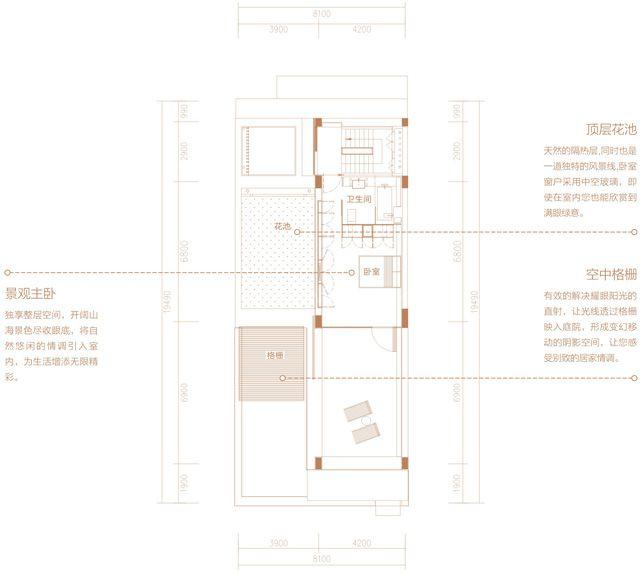 二期别墅 TH02户型 3房2厅3卫 建筑面积约260.68平.