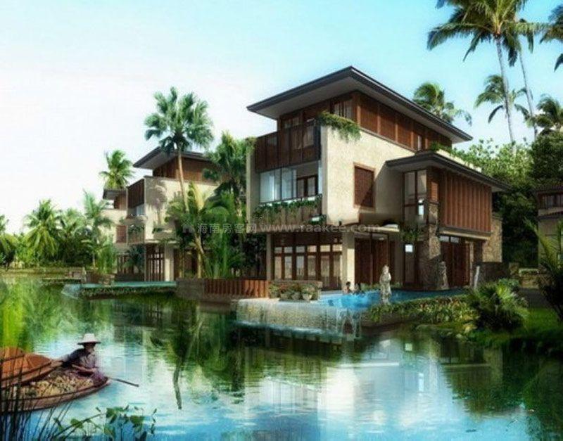 規劃建筑面積14萬平方米,分劃為南北兩區,其中北區為238套獨棟別墅,南