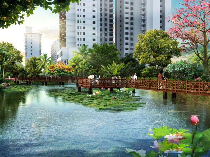 江畔锦城园林效果图