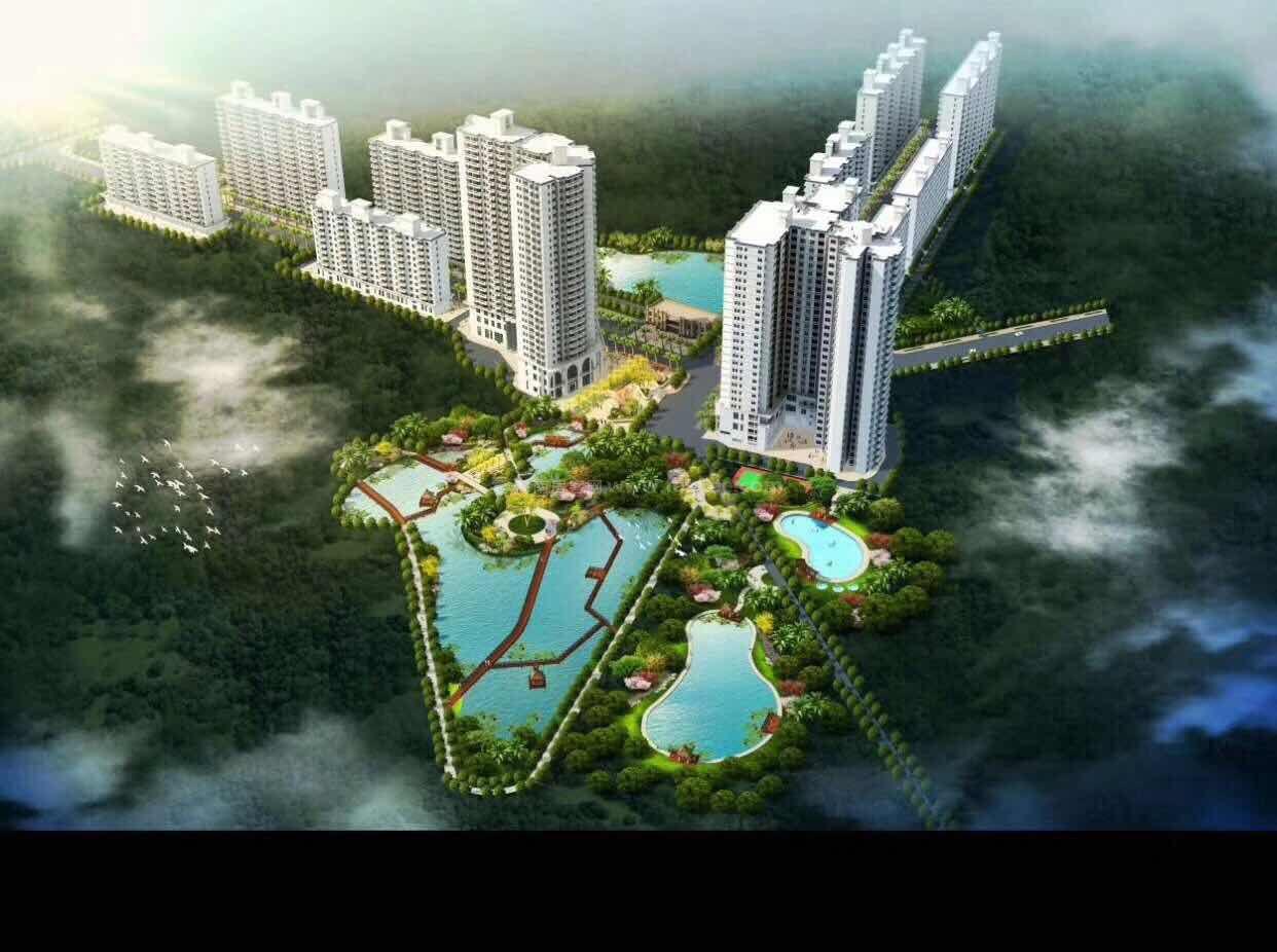 江畔锦城鸟瞰图