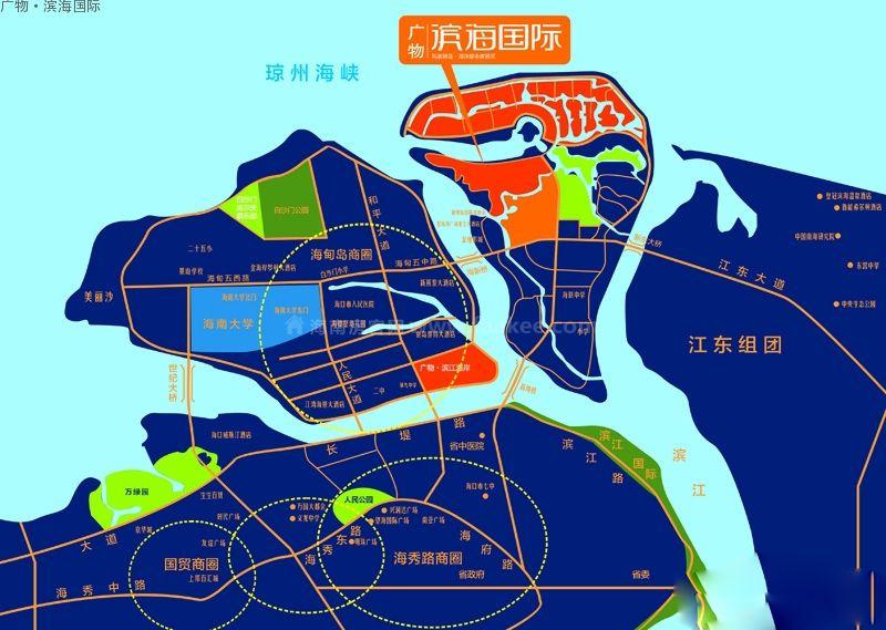 广物滨海国际区位图