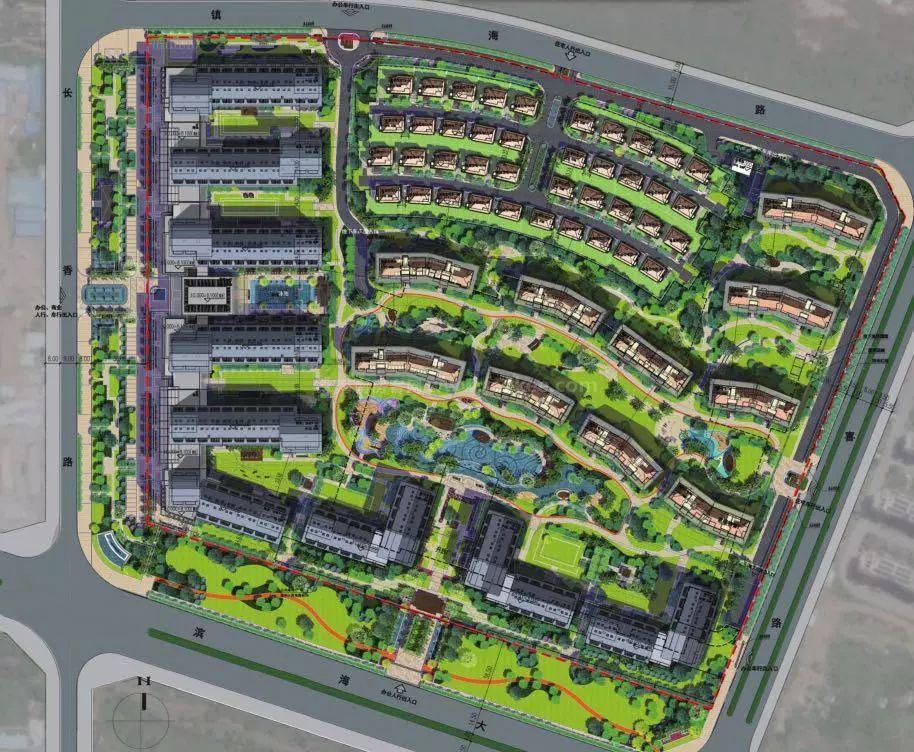 鲁能海蓝公馆规划图