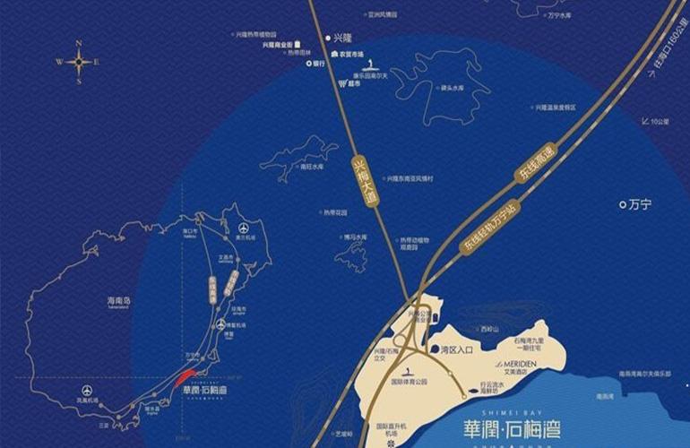 华润石梅湾九里交通图