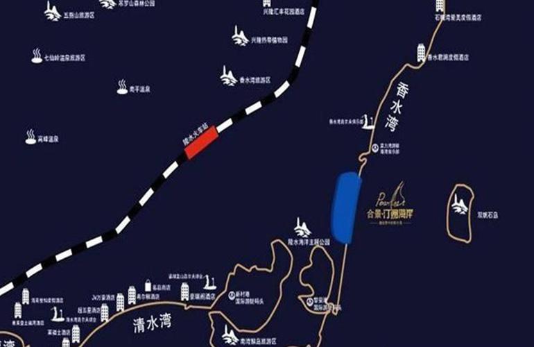 合景汀澜海岸交通图