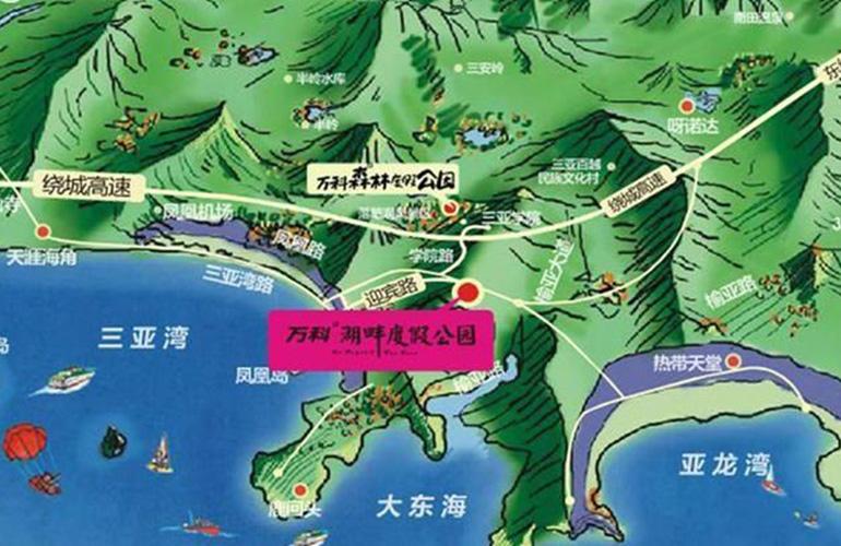 万科湖畔度假公园交通图