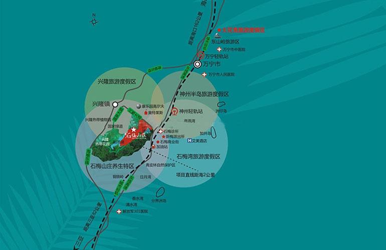石梅山莊交通圖