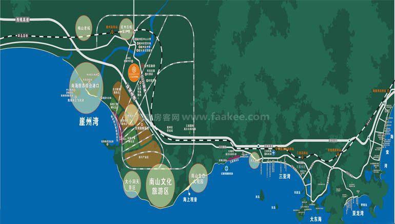 保利崖州湾城交通图