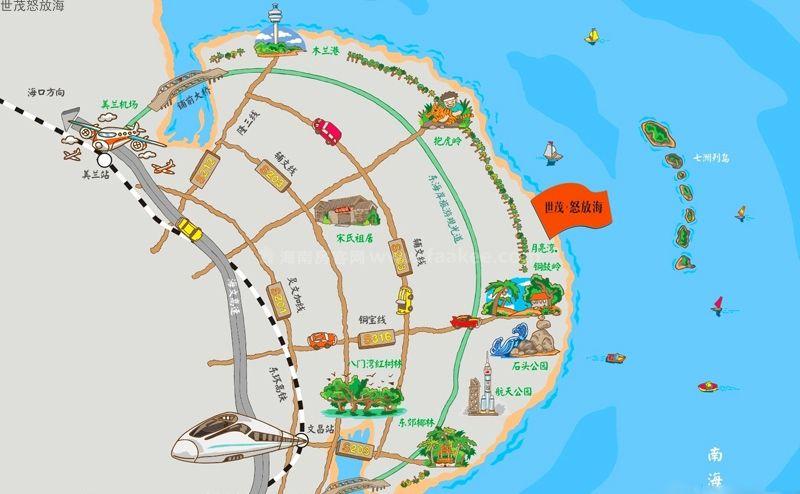 世茂怒放海交通图