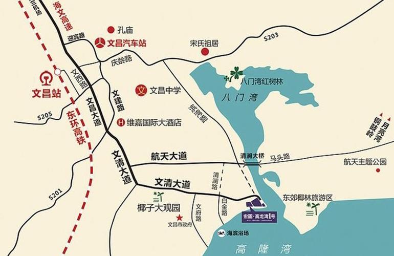 宏图高龙湾1号交通图