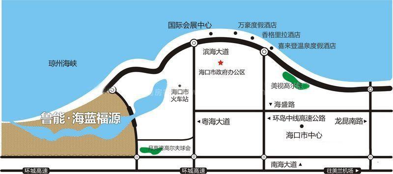 鲁能海蓝福源交通图