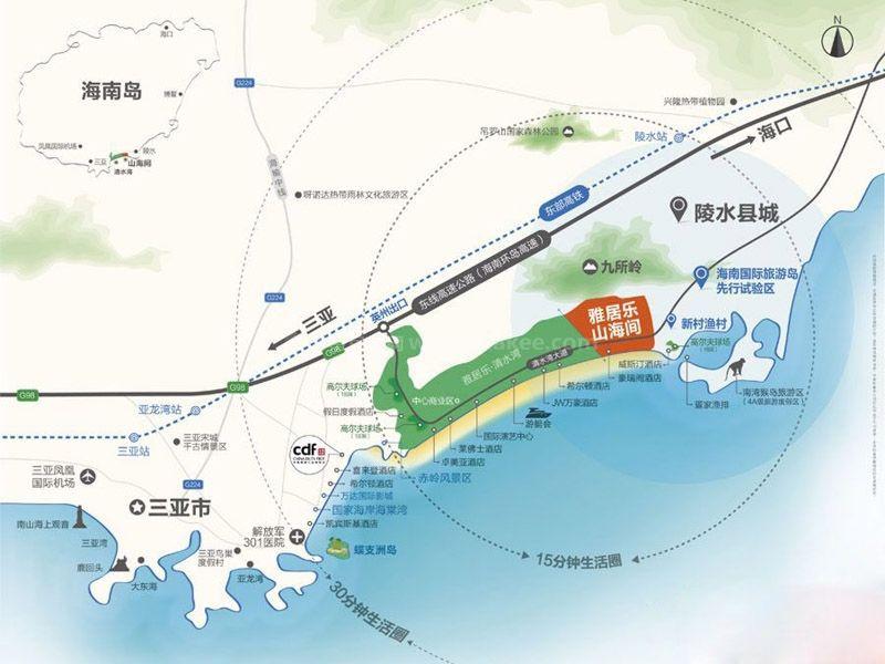 雅居乐山海间交通图