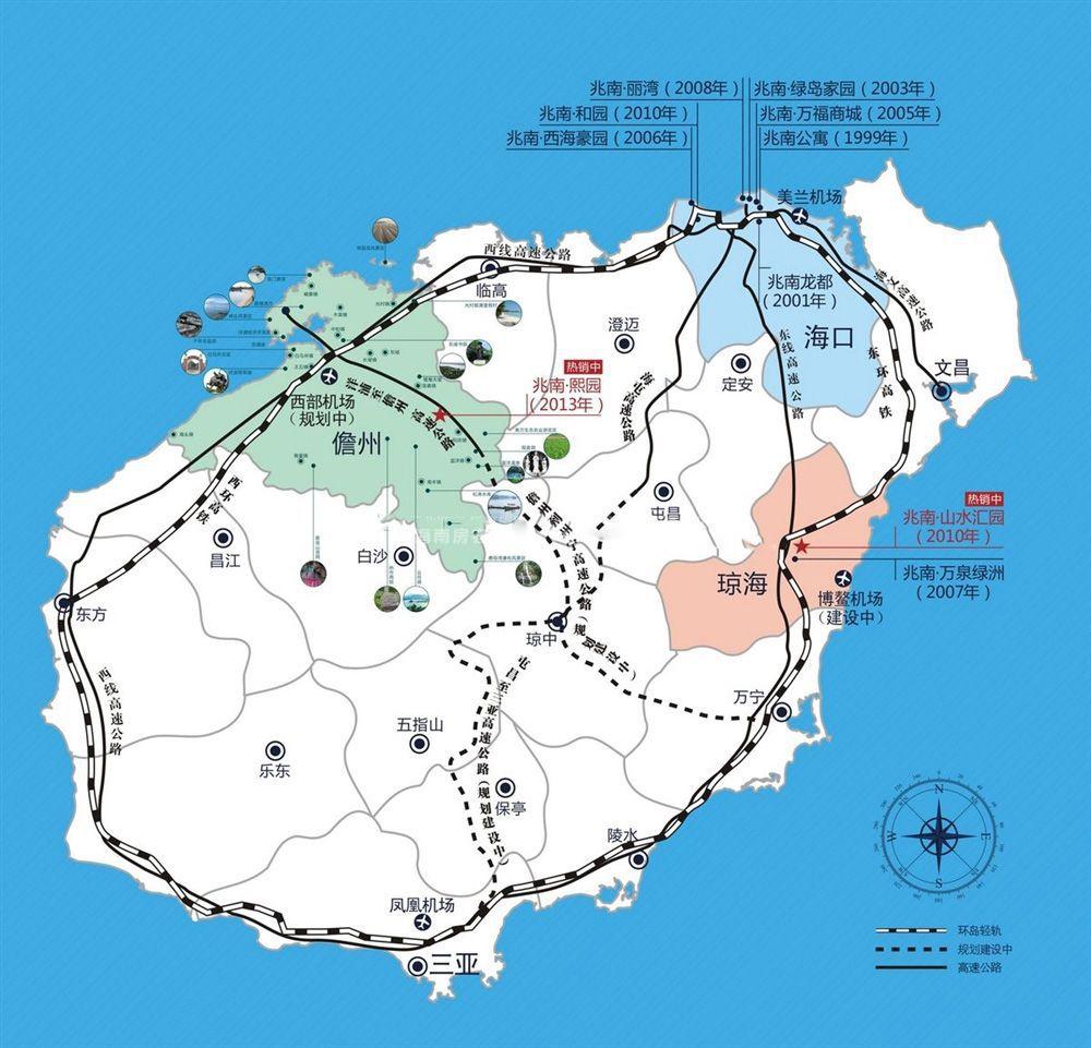 兆南熙园区位图