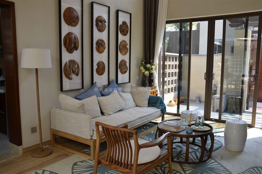 4期疊拼別墅A3戶型 2房2廳2衛1廚 69㎡樣板間:客廳