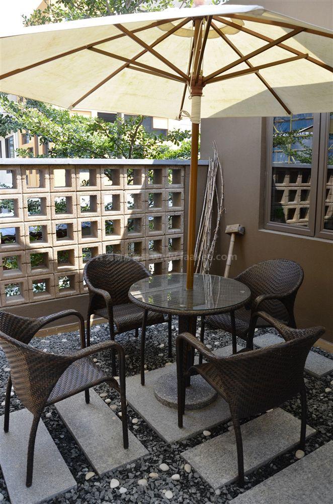 4期疊拼別墅A3戶型 2房2廳2衛1廚 69㎡樣板間:陽臺座椅