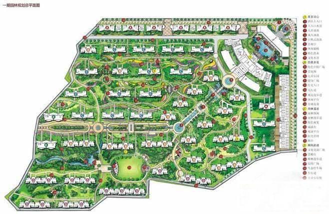 后海温泉小镇鸟瞰图