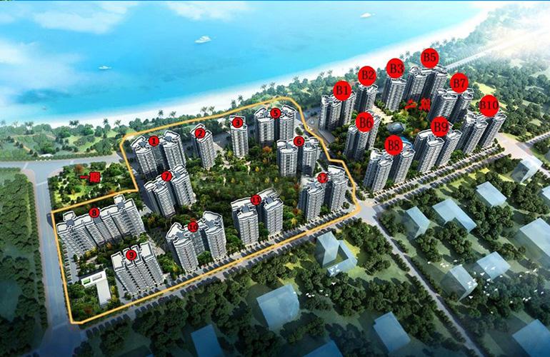 广物滨海国际鸟瞰图
