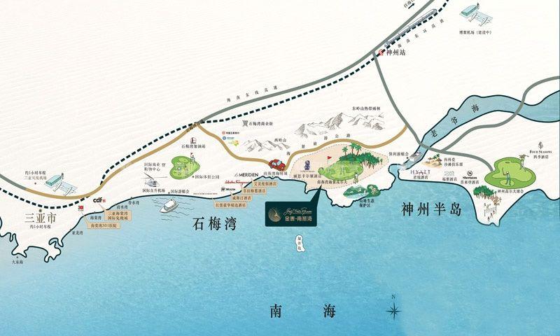金泰南燕湾交通图