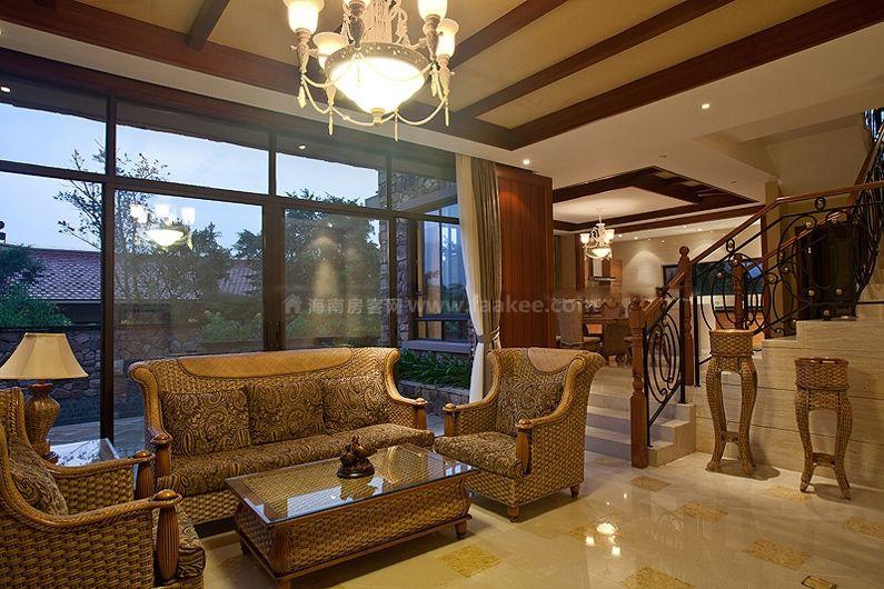 別墅A戶型 一層 樣板間:客廳