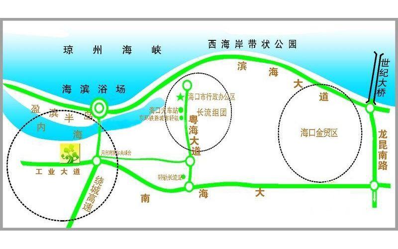 盈滨绿生花园交通图