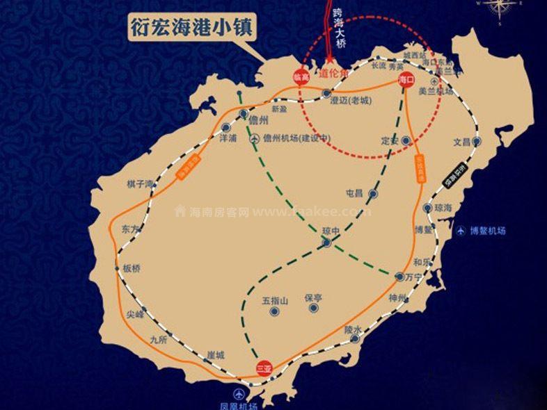 衍宏海港小镇交通图