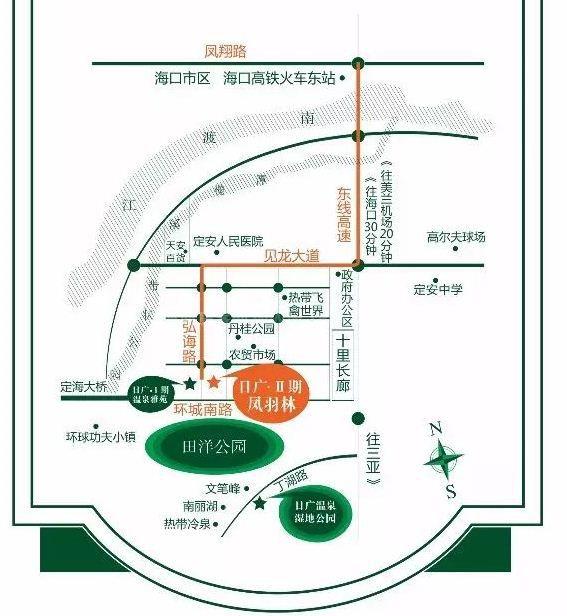 日广凤羽林温泉区位图
