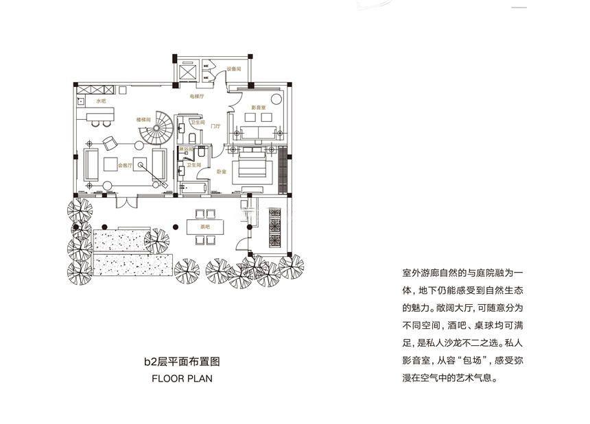 三期别墅C户型 8房7厅1厨8卫 242㎡(负二层)