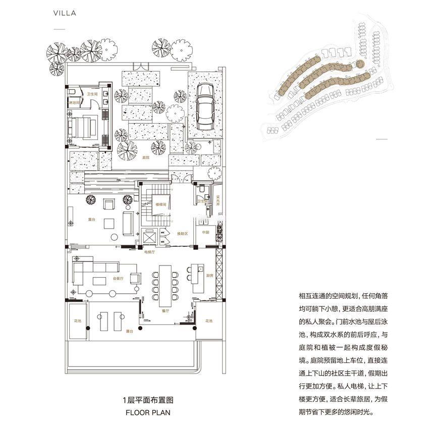 三期别墅C户型 8房7厅1厨8卫 242㎡(一层)